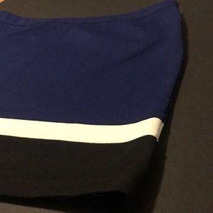 Rafaella Skirts - Rafaela color block poly spandex skirt.